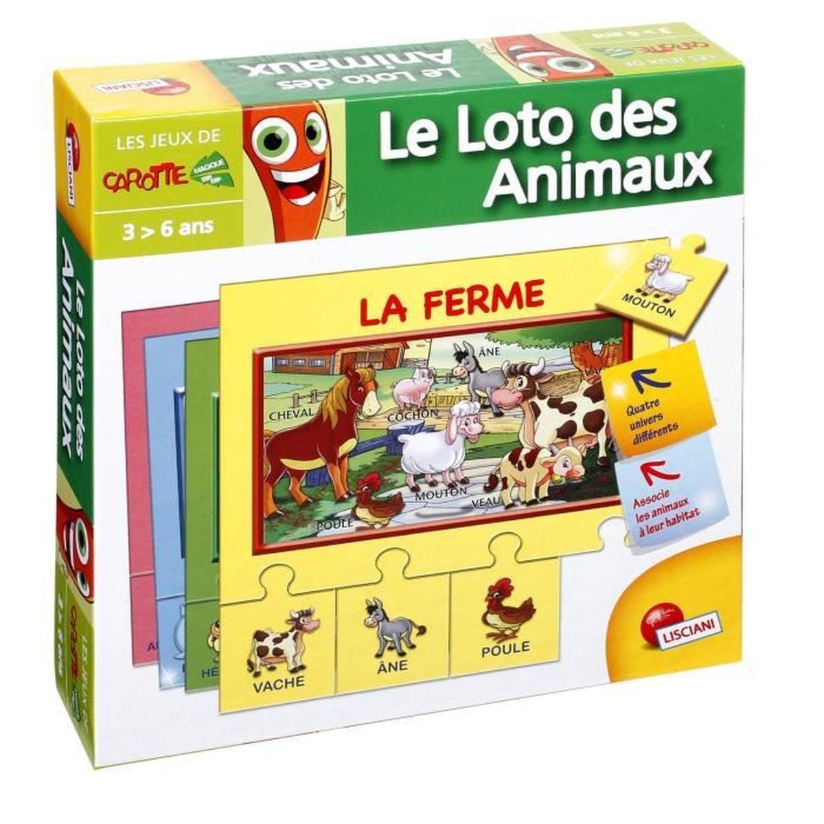 Jeu Éducatif Puzzle Mes 1Ers Mots - Le Loto Des Animaux intérieur Jeu Educatif 3 Ans