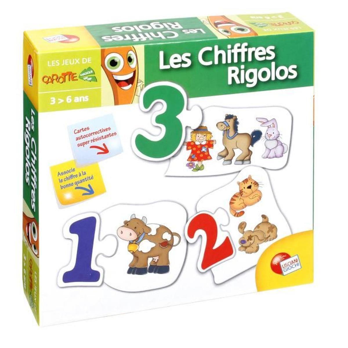 Jeu Éducatif Puzzle Mes 1Ers Mots - Les Chiffres Rigolos serapportantà Les Jeux Educatif