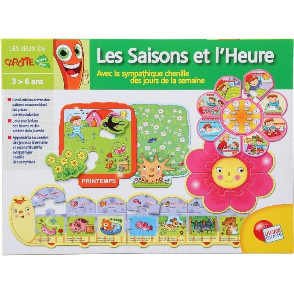 Jeu Éducatif - Saisons Et Heures - Achat / Vente Jeu D destiné Les Jeux Educatif