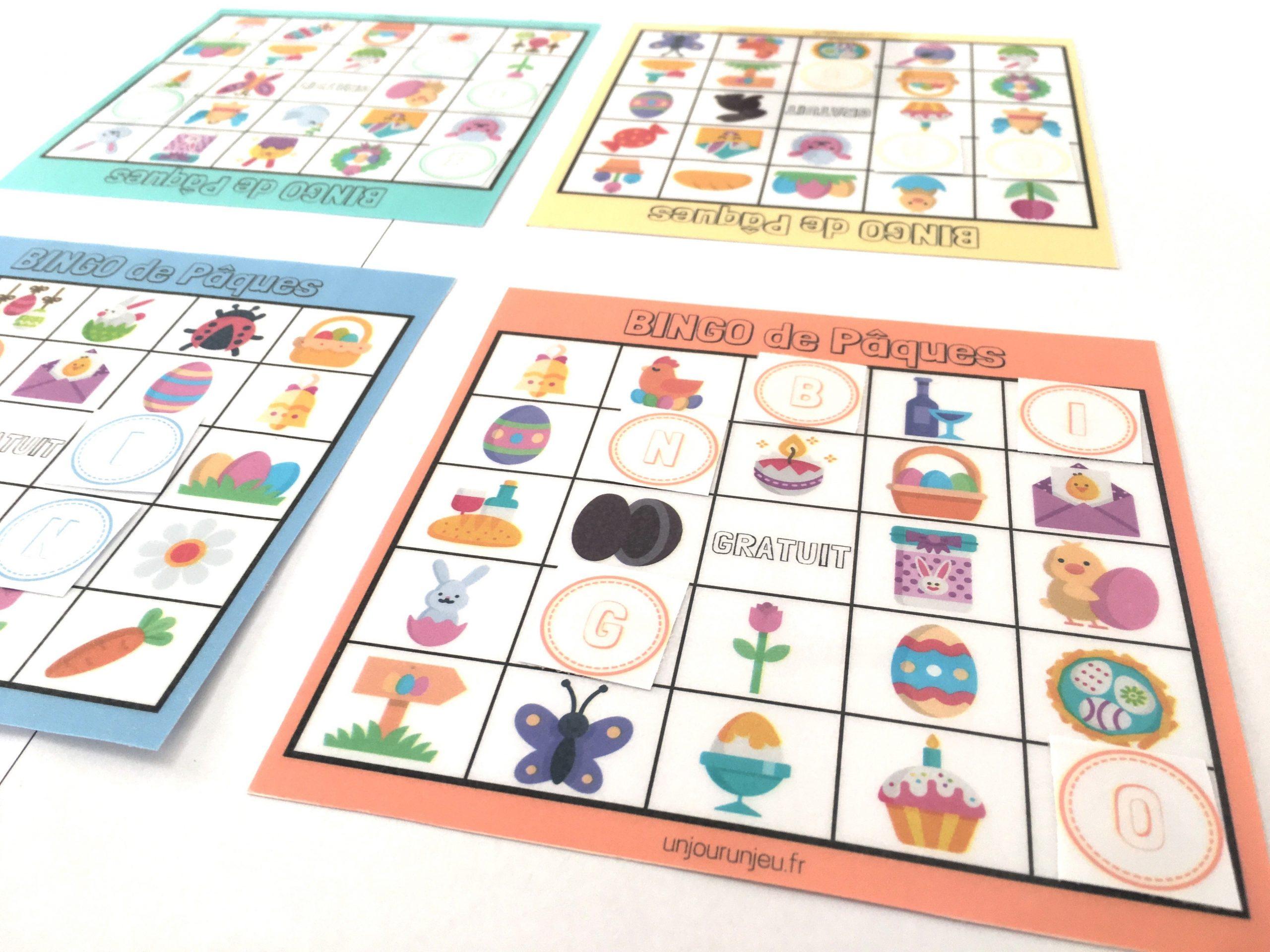 Jeu Et Activités De Pâques : Un Bingo À Télécharger Gratuitement intérieur Jeux Rigolos Gratuits