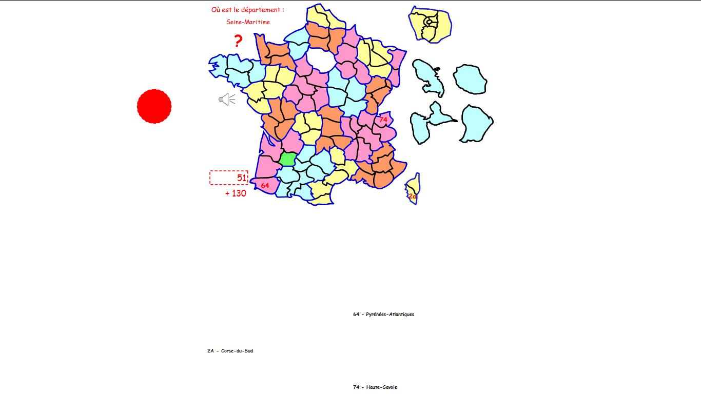 Jeu Gratuit Flash Quiz : Les Départements De La France concernant Puzzle Des Départements Français