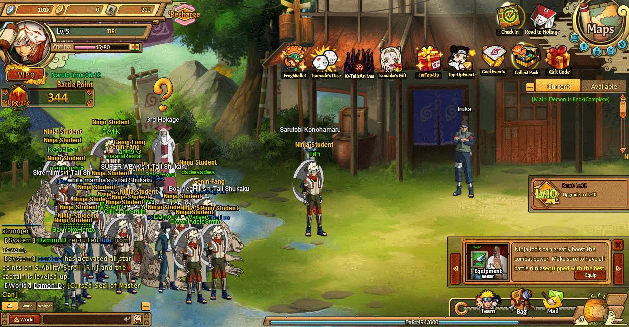 Jeu Gratuit Ultimate Naruto (Unlimited Ninja Ou My Ninja) | :}) serapportantà Jeux Gratuit De Village