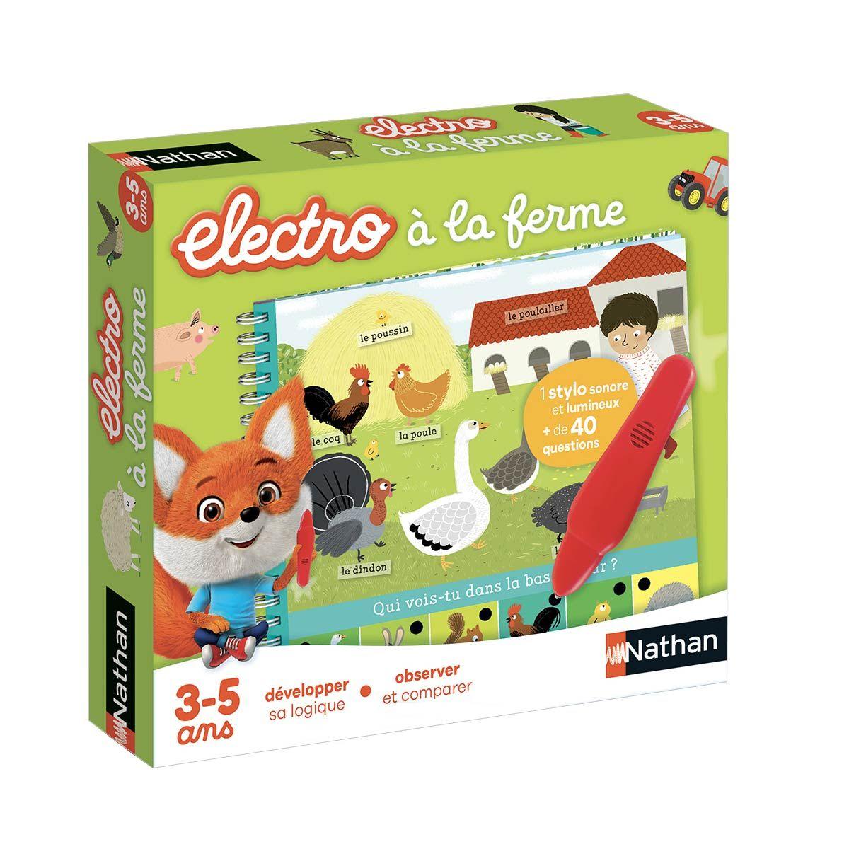 Jeu Interactif Electro Livre-Jeu À La Ferme Nathan | Jeu à Jeux Pour Enfant De 3 Ans