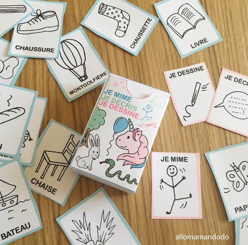 """Jeu """"je Mime, Je Décris, Je Dessine"""" À Imprimer (#gratuit avec Jeu Gratuit Enfant 7 Ans"""