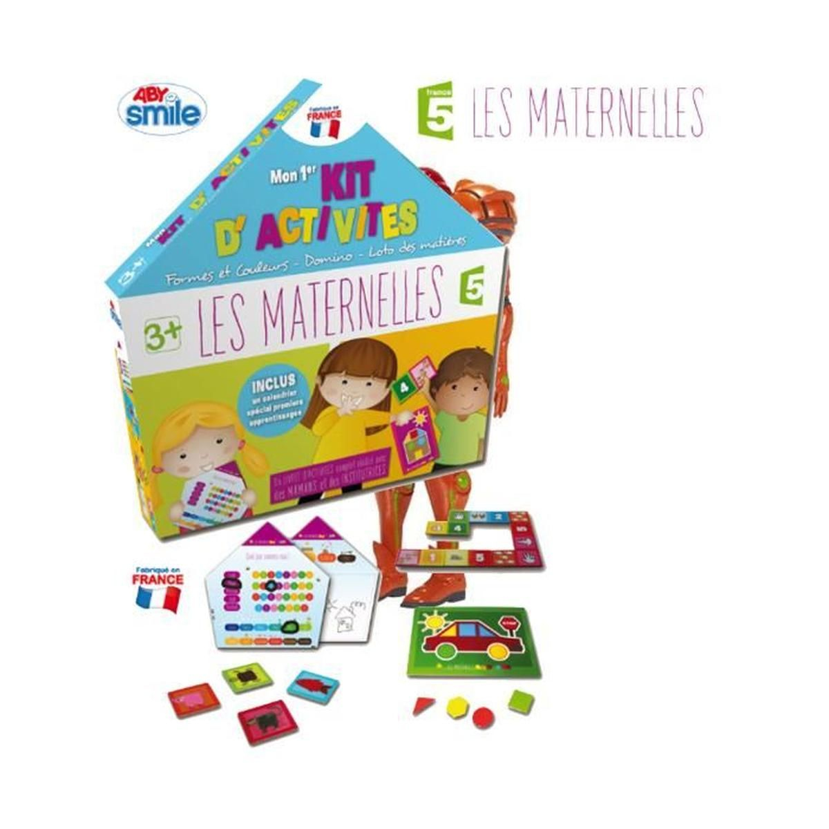 Jeu Les Maternelles : Mon Premier Kit D'activités Aille Unique Coloris  Unique concernant Jeux D Apprentissage Maternelle