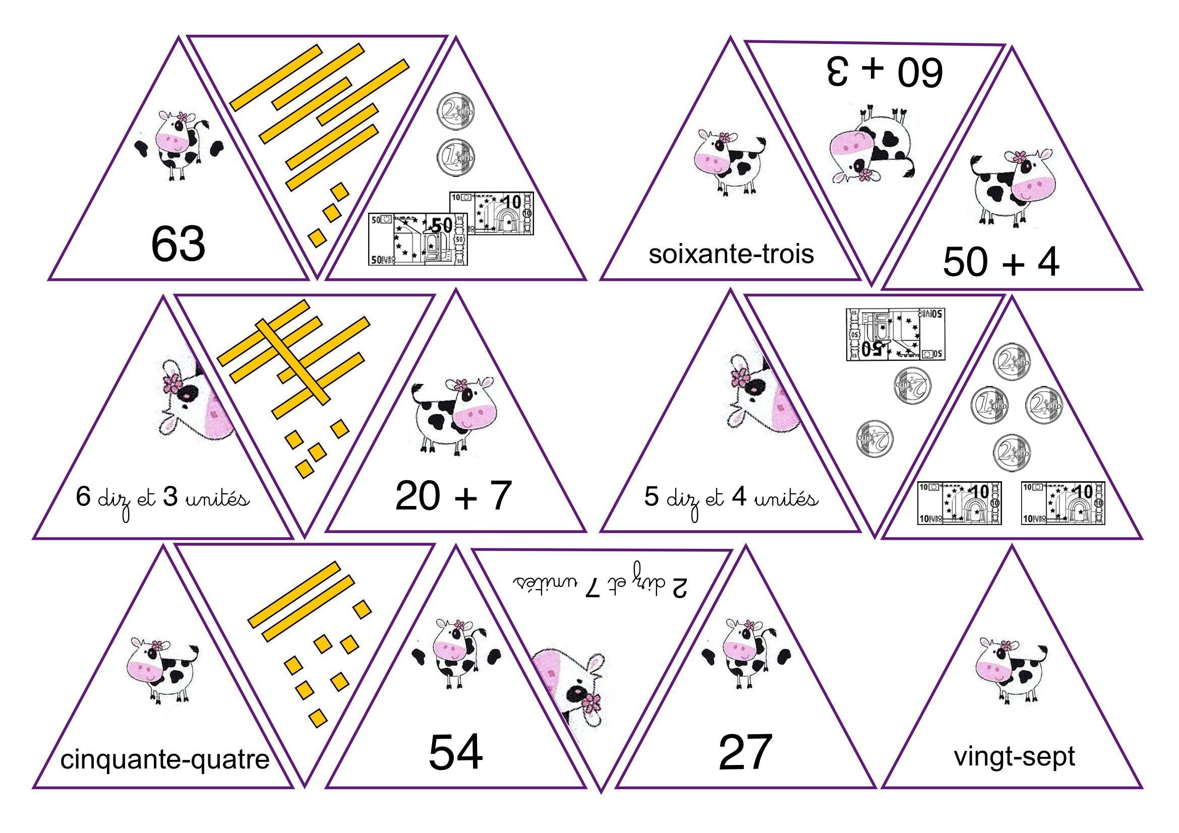 Jeu: Les Représentations D'un Nombre. | Jeux Maths, Jeux encequiconcerne Jeux Avec Des Nombres
