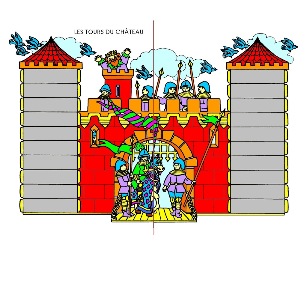 Jeu Mathématique, Jeu De Hasard: Les Tours Du Château avec Jeux Maternelle Moyenne Section