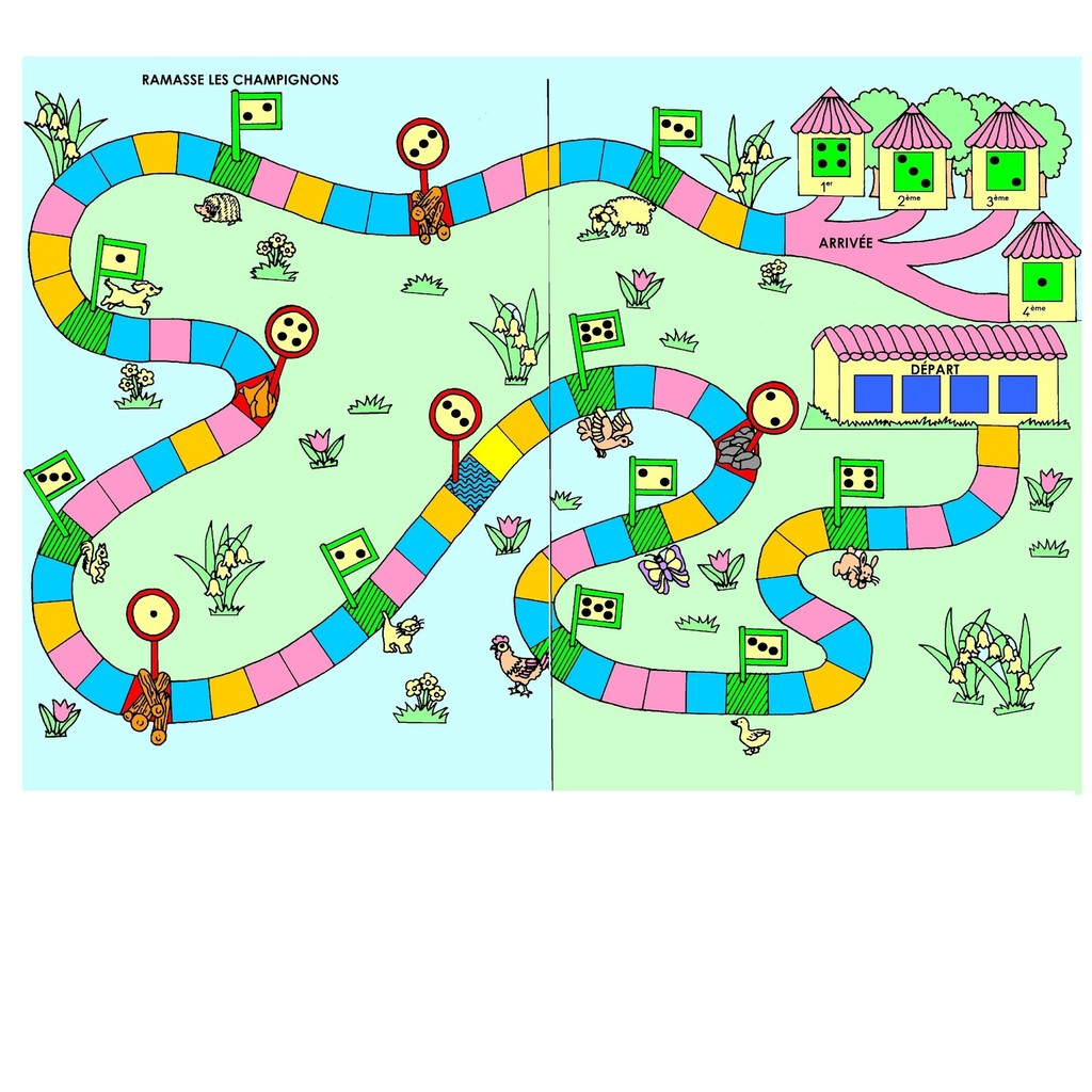 Jeu Mathématique, Jeu De Hasard: Ramasse Les Champignons intérieur Jeux Maternelle Moyenne Section