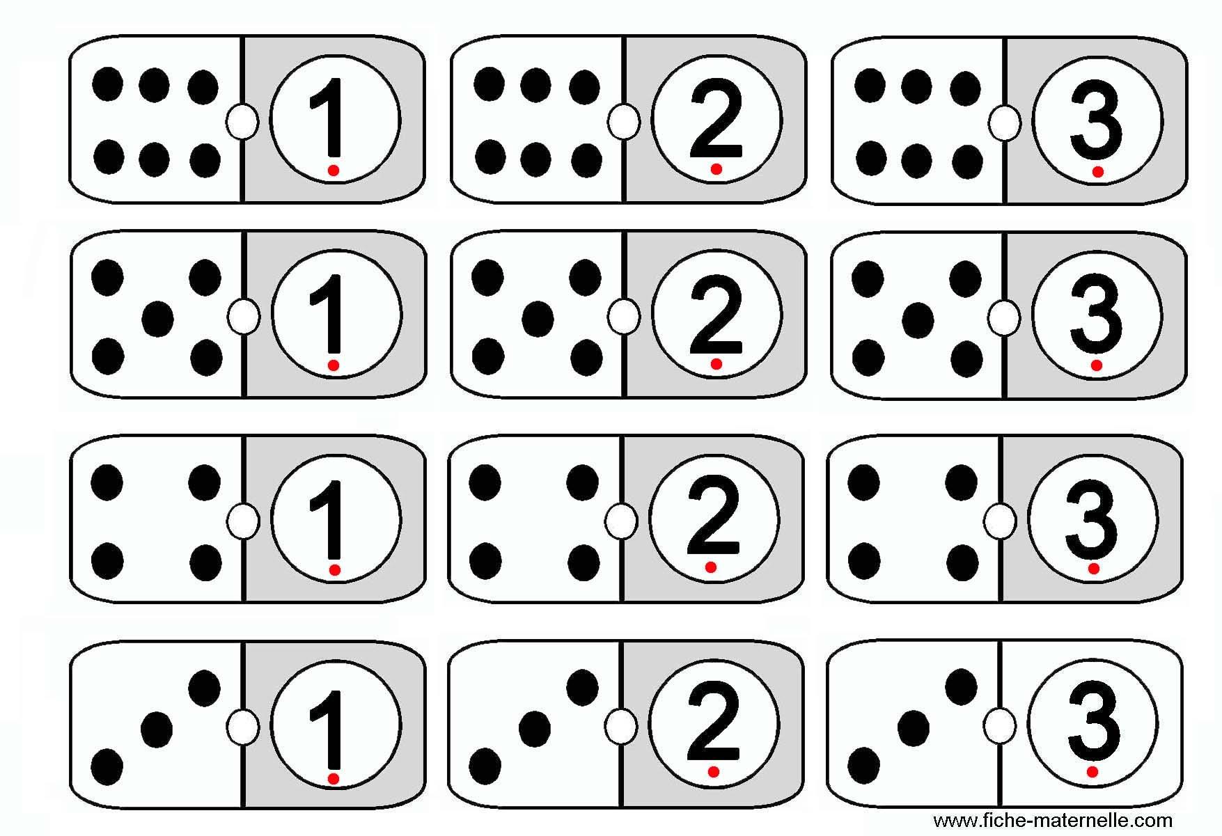 Jeu Mathématiques En Maternelle Et Cp : Les Dominos destiné Dominos À Imprimer