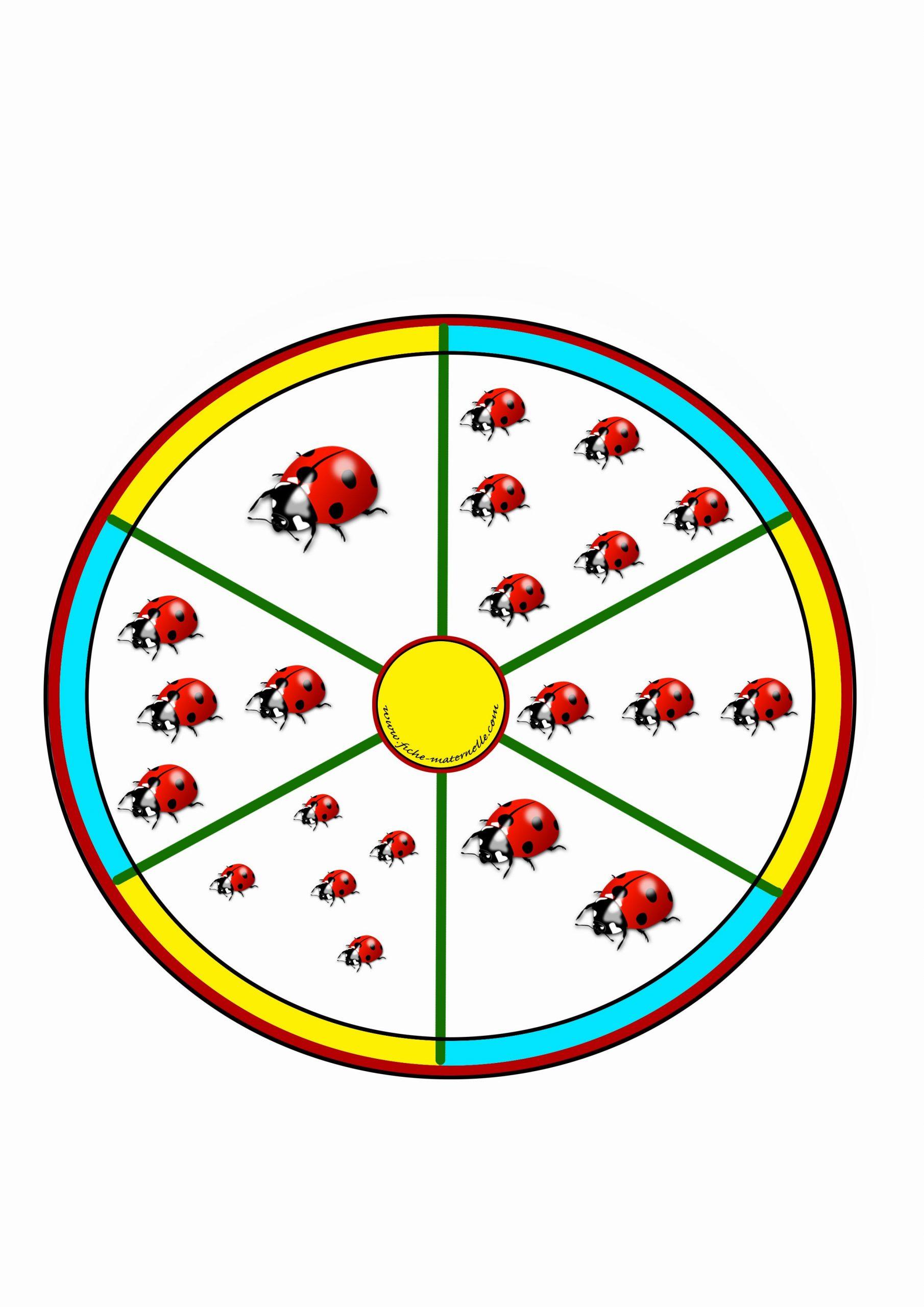 Jeu Mathématiques Maternelle,la Roue Des Nombres. Avec Pince concernant Jeux D Apprentissage Maternelle