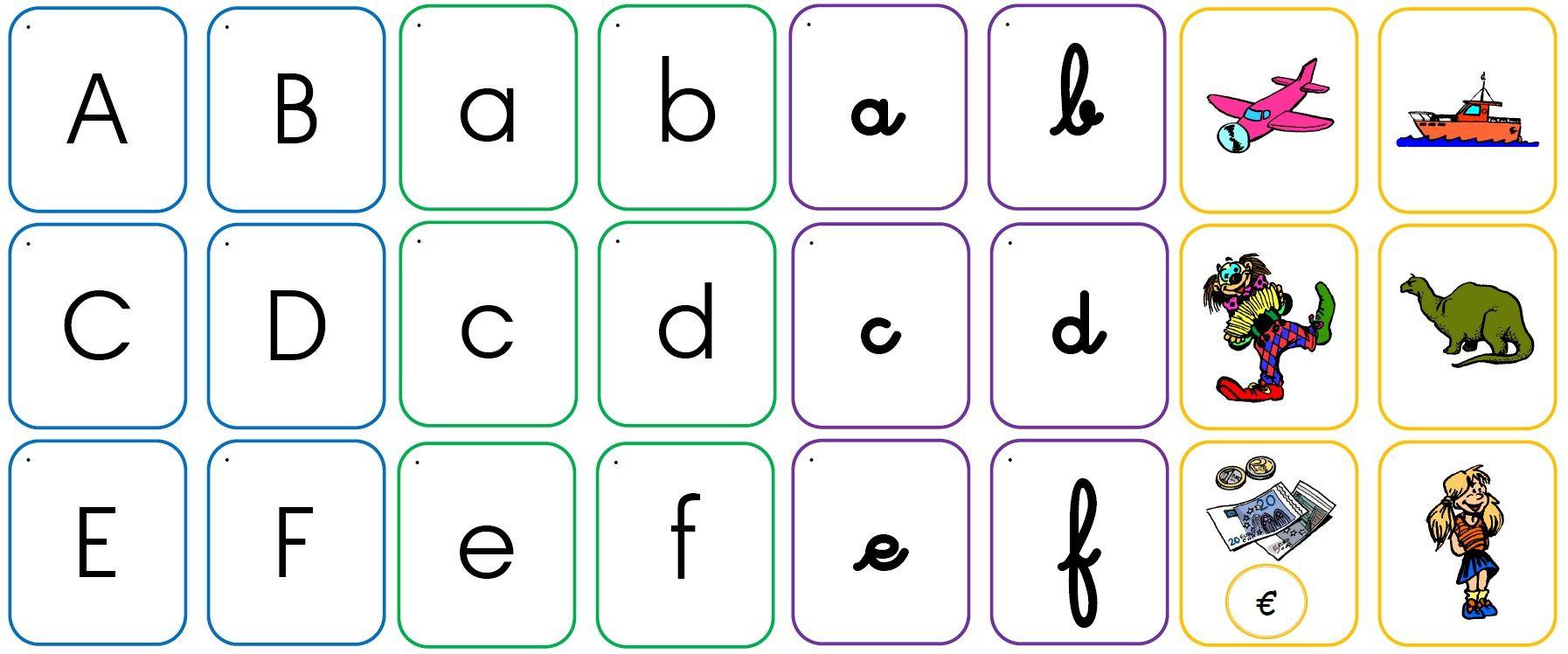 Jeu Memory Des Lettres | Lettre A, Des Lettres, Jeux Alphabet destiné Jeux Pour Apprendre L Alphabet