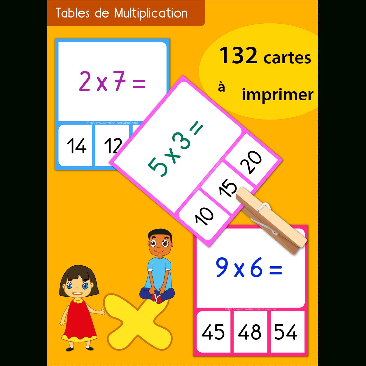 Jeu Memory Tables De Multiplication À Imprimer serapportantà Jeux Ce2 À Imprimer