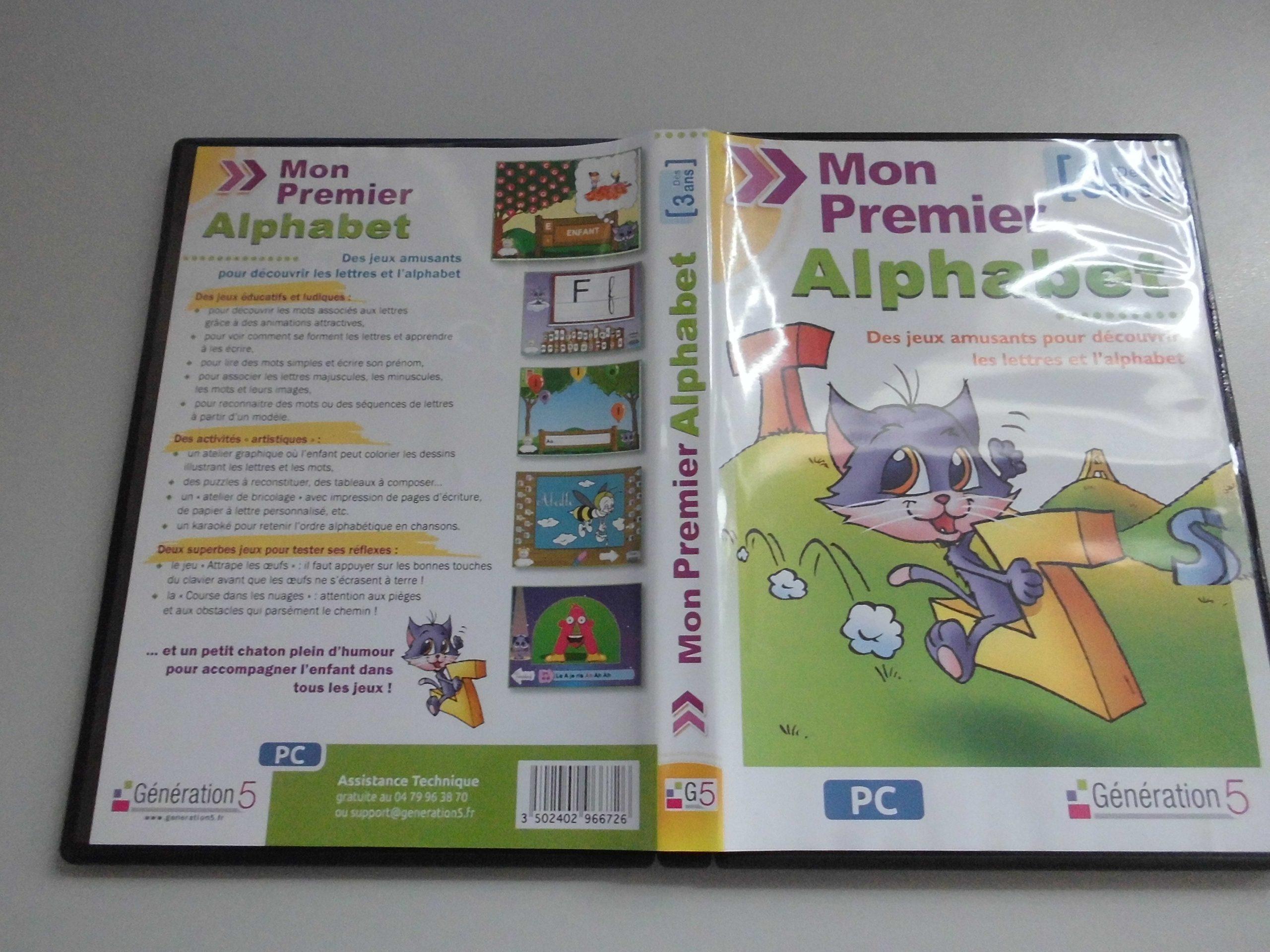 Jeu Pc Maternelle « Mon Premier Alphabet » (Génération5 à Jeux Educatif Gratuit Maternelle
