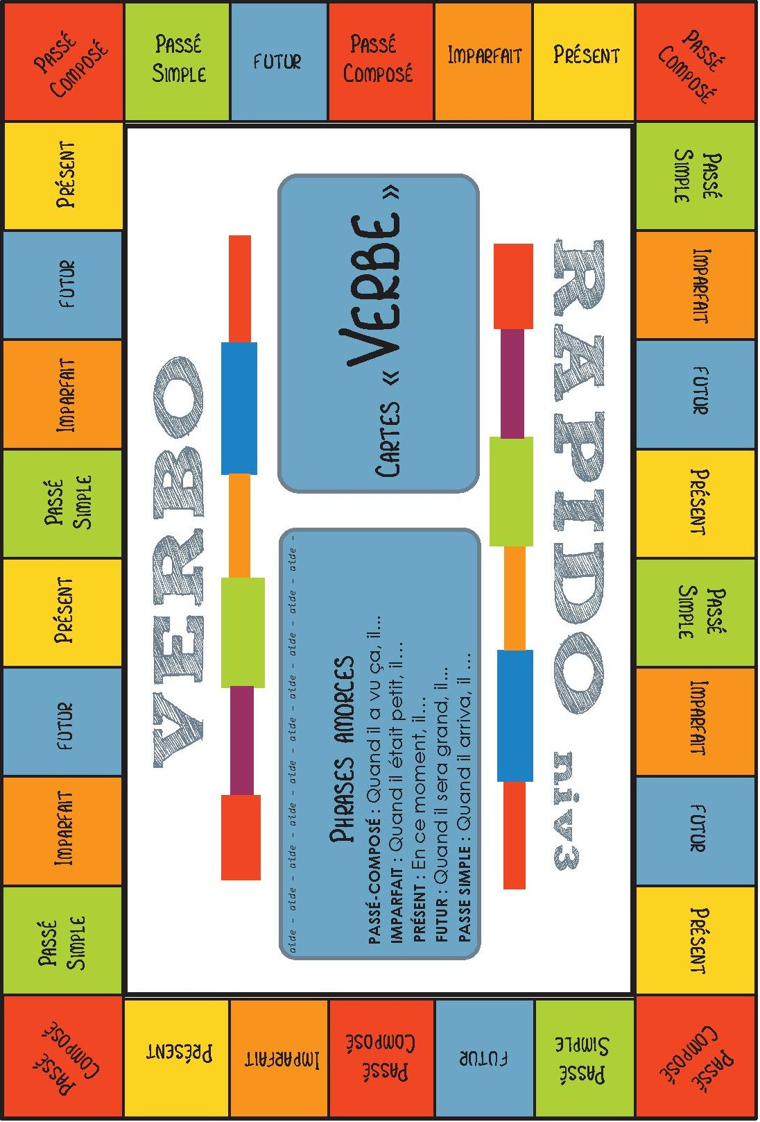 Jeu Pour La Classe] Conjugaison – Verbo-Rapido – Cycle 3 concernant Jeux Éducatifs À Imprimer Collège