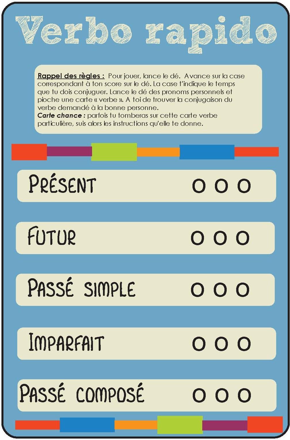 Jeu Pour La Classe] Conjugaison – Verbo-Rapido – Cycle 3 dedans Jeux Éducatifs À Imprimer Collège