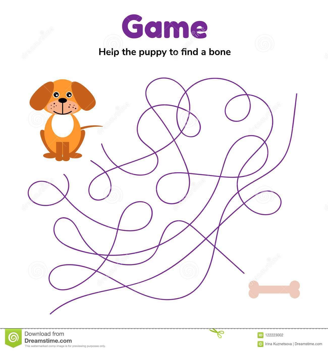 Jeu Pour L'âge D'école Maternelle D'enfants Labyrinthe Ou intérieur Jeux Enfant Maternelle