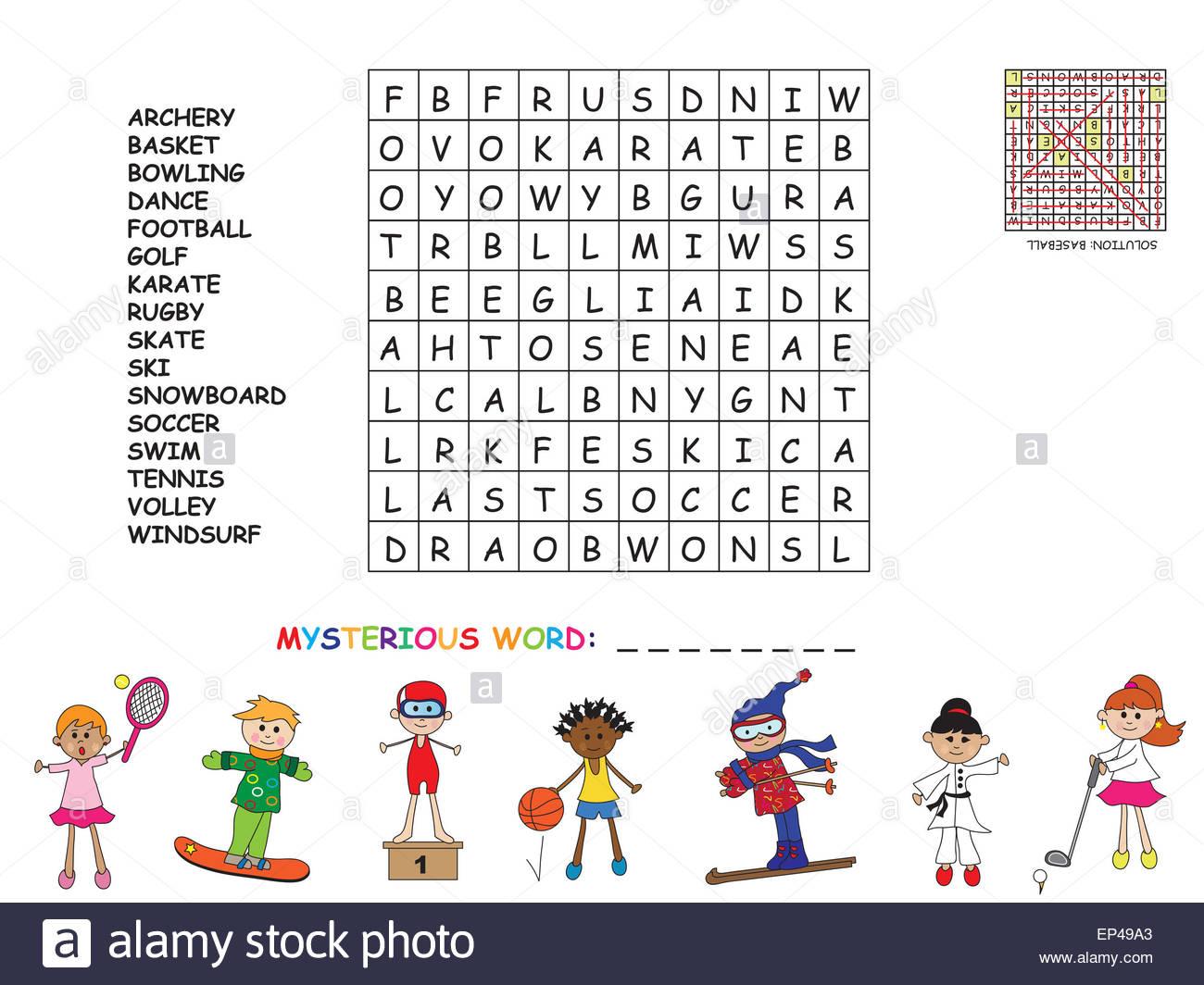 Jeu Pour Les Enfants : Chercher Tous Les Mots (Horizontale pour Jeux De Mots A Chercher