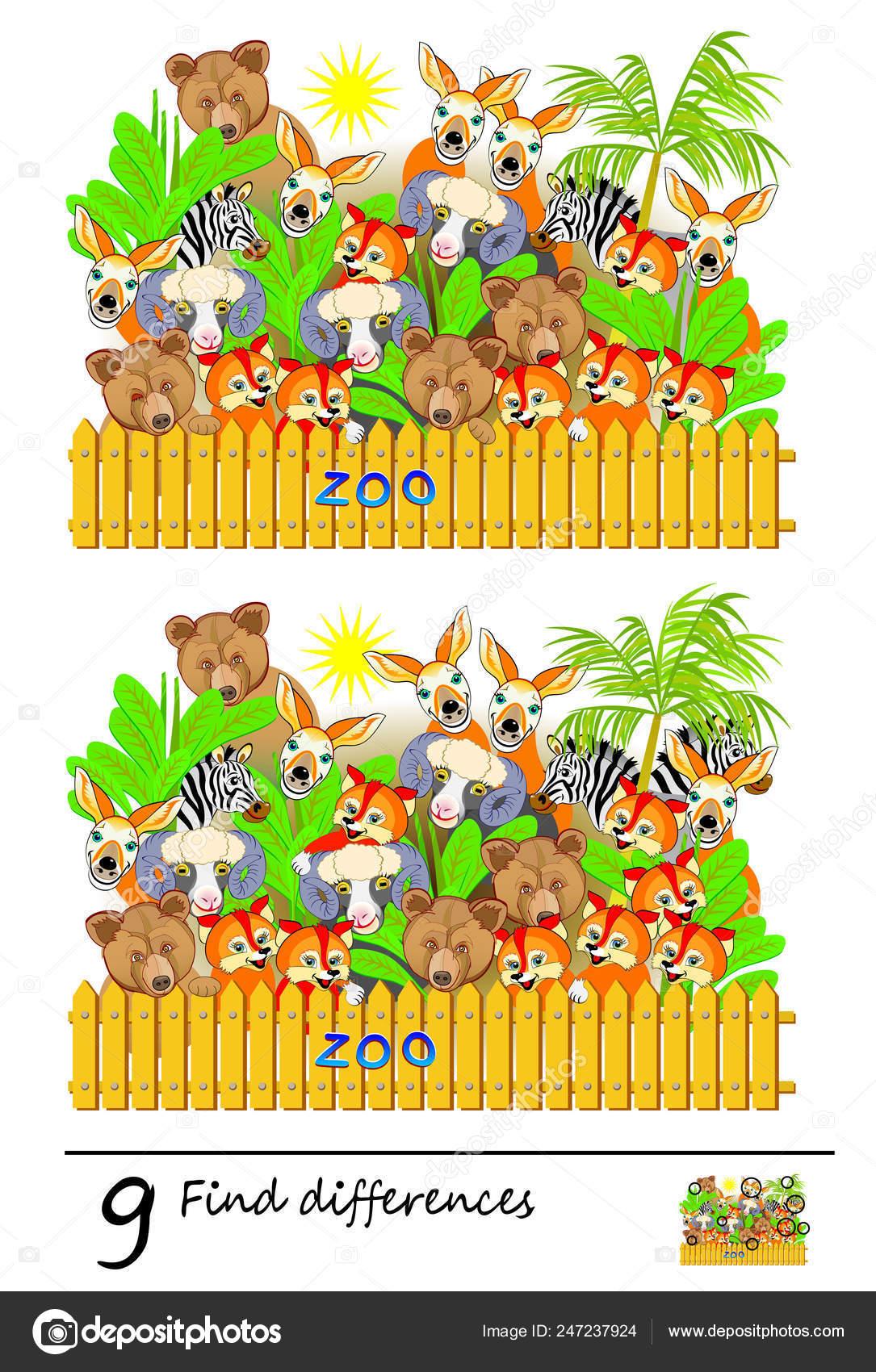 Jeu Puzzle Logique Pour Enfants Adultes Vous Devrez Trouver serapportantà Jeux Des Différences À Imprimer Pour Adultes