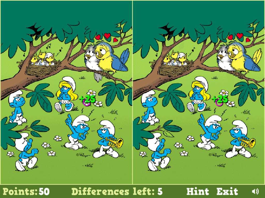 Jeu Schtroumpf Smurfs Spot The Difference / Jeuxgratuits encequiconcerne Jeux De Différence
