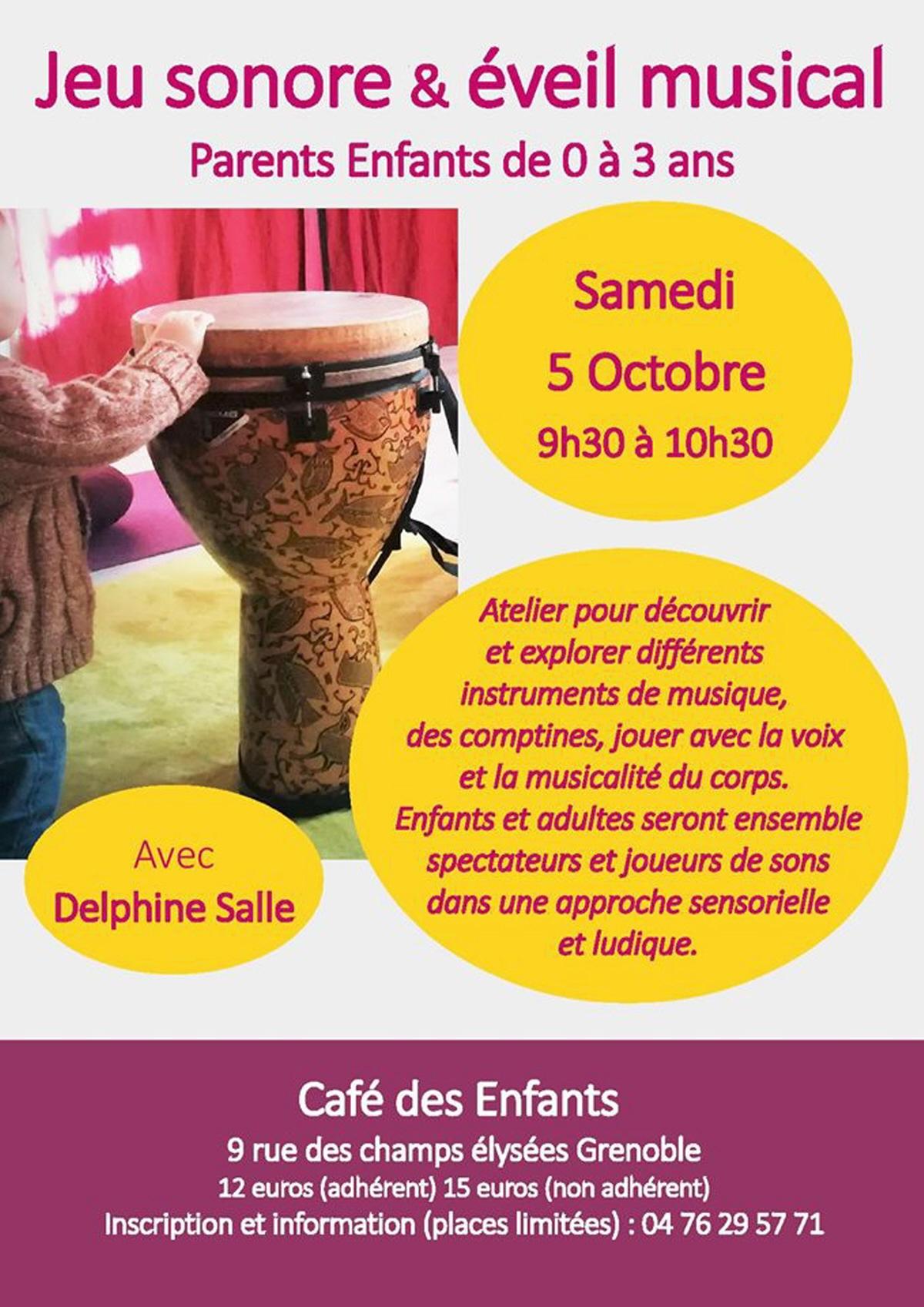 Jeu Sonore Et Eveil Musical Avec Delphine Salle Pour Les intérieur Jeux Ludique Pour Enfant