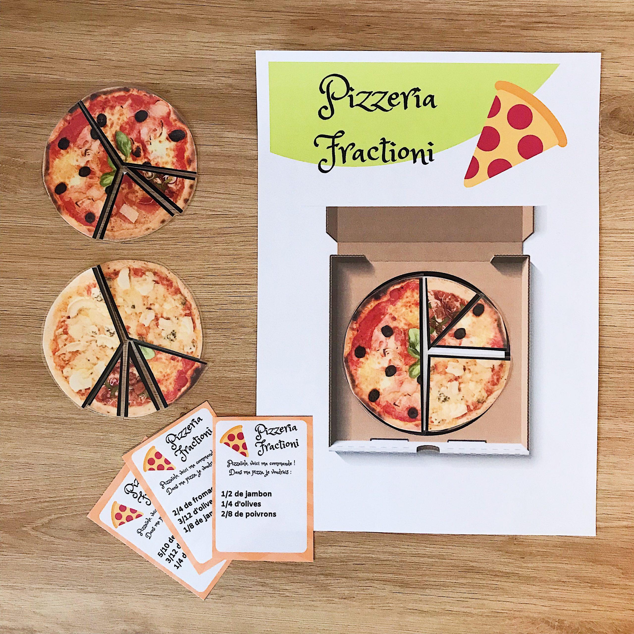 Jeu Sur Les Fractions : Les Pizzas | Maitresse De La Forêt encequiconcerne Jeux De Maitresse A Imprimer