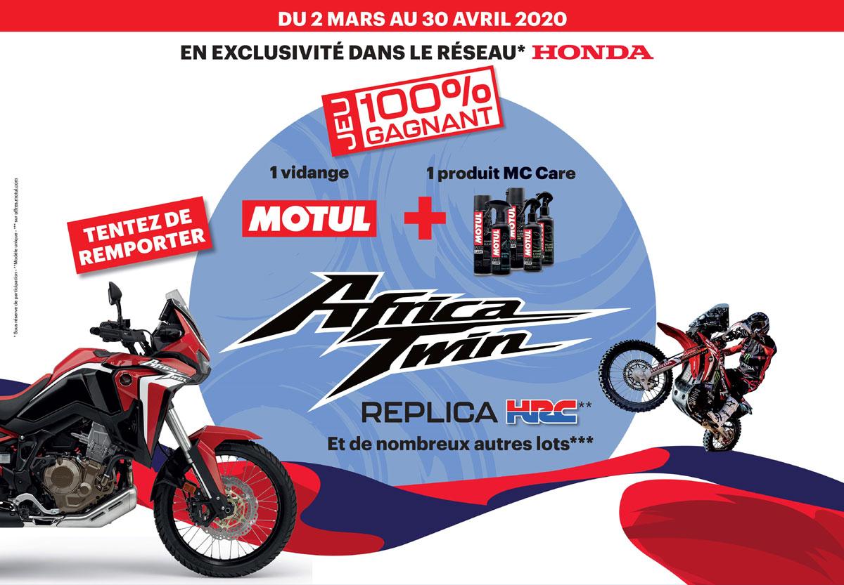 Jeu : Une Moto Africa Twin 1100 À Gagner avec Jeux Moto En Ligne Gratuit