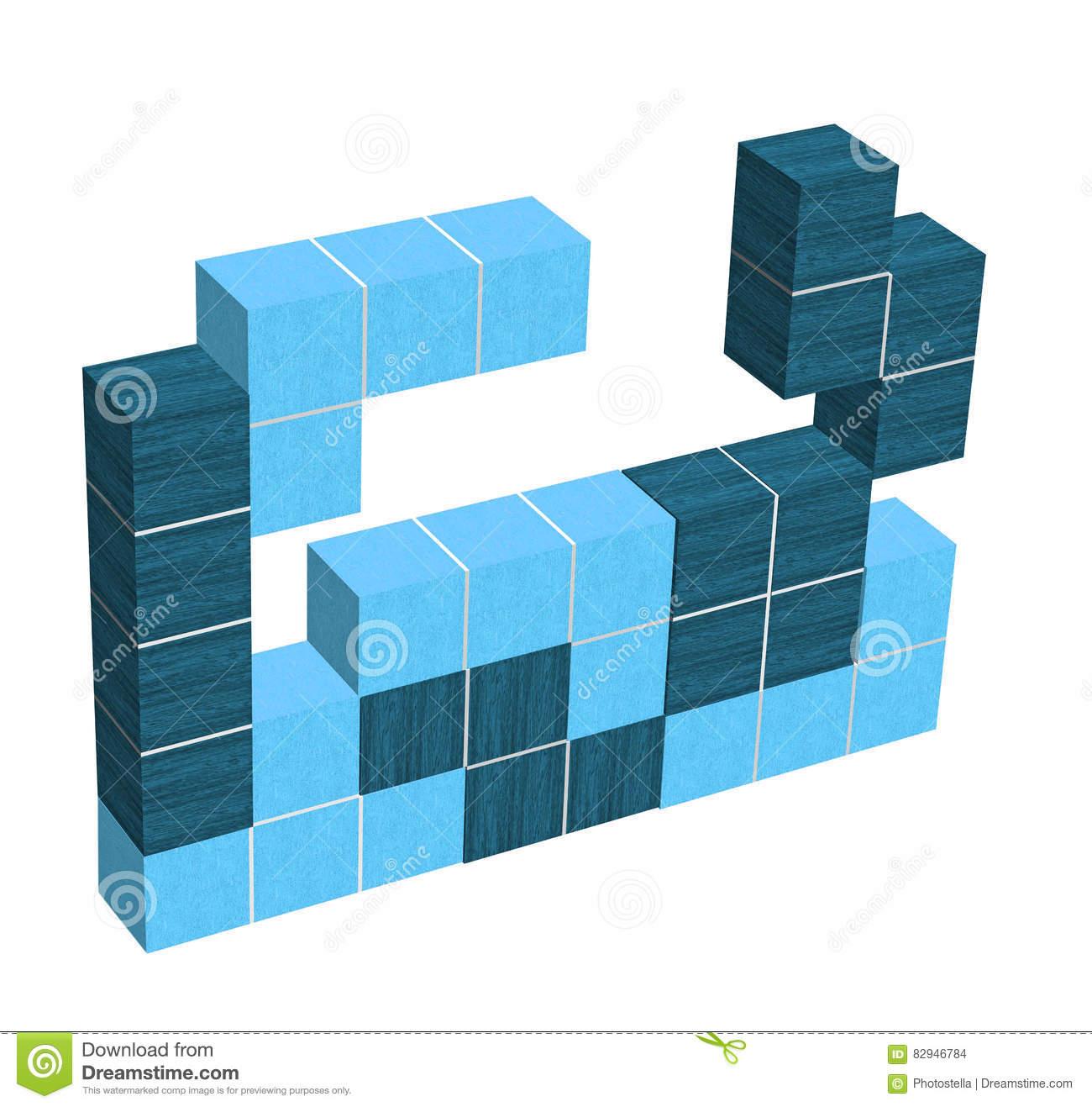 Jeu Vidéo De Puzzle - Formes Géométriques Du Bleu 3D concernant Jeu De Forme Géométrique