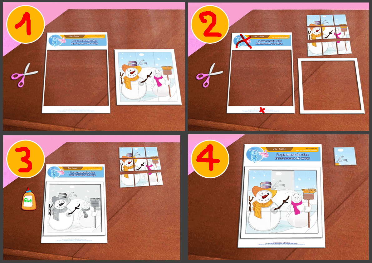 Jeux À Imprimer Jeu Éducatif Puzzle Enfant À Télécharger serapportantà Puzzle 5 Ans En Ligne