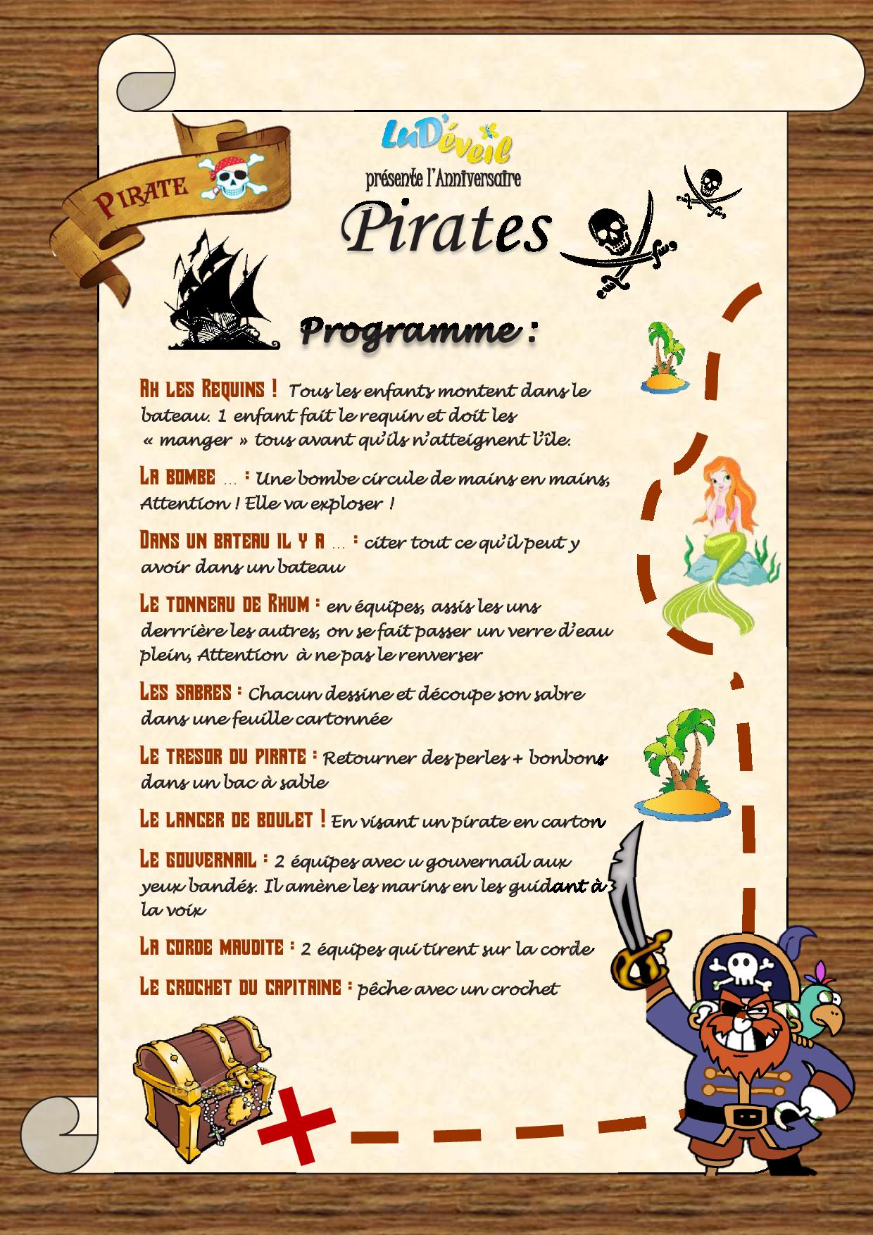 Jeux Anniversaire Pirates - Lud'éveil concernant Jeux Gratuit Pour Garçon 5 Ans