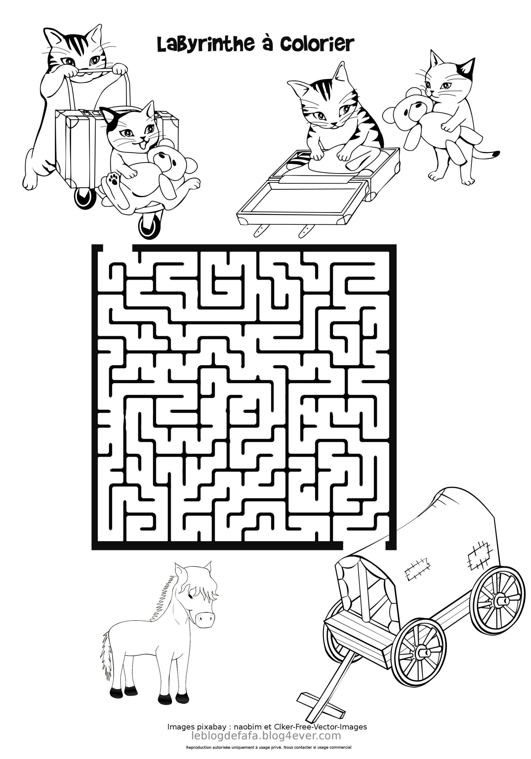 Jeux Chevaux Gratuits À Imprimer : Labyrinthes, Apprendre À dedans Labyrinthes À Imprimer