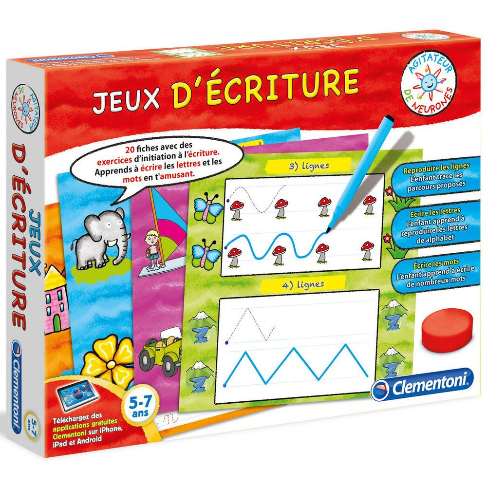 Jeux D Ecriture avec Jeux Educatif 3 Ans