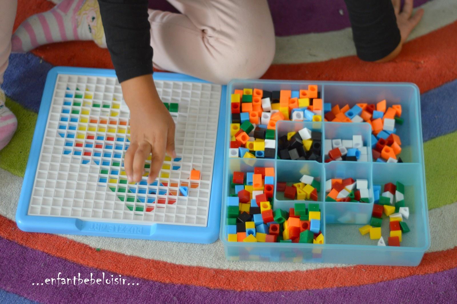 Jeux D'apprentissage Des Couleurs - Mozaïques - Enfant Bébé pour Jeux Apprendre Les Couleurs