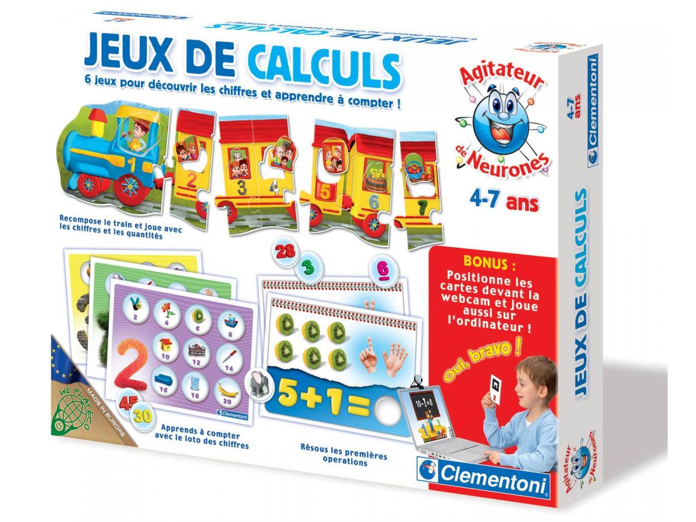 Jeux De Calculs 4-7 Ans - Saghrounet destiné Jeux Enfant 7 Ans