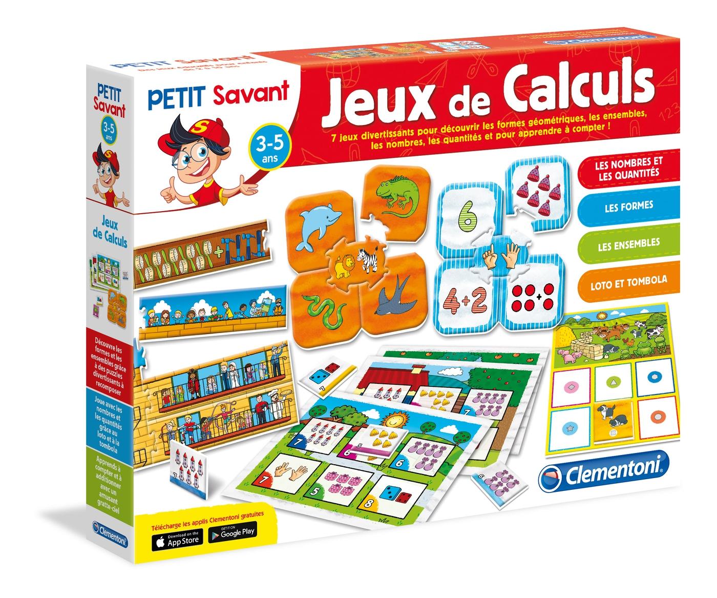 Jeux De Calculs - Clementoni pour Jeux Avec Des Nombres