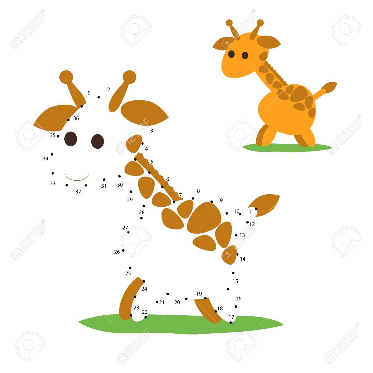 Jeux De Chiffres Avec Girafe, Jeu Point À Point, Jeu Point À Point Pour  Enfants, Jeux Point À Point Pour Enfants, Vecteur, Eps8, Point À Point, Jeu serapportantà Puzzle Enfant En Ligne