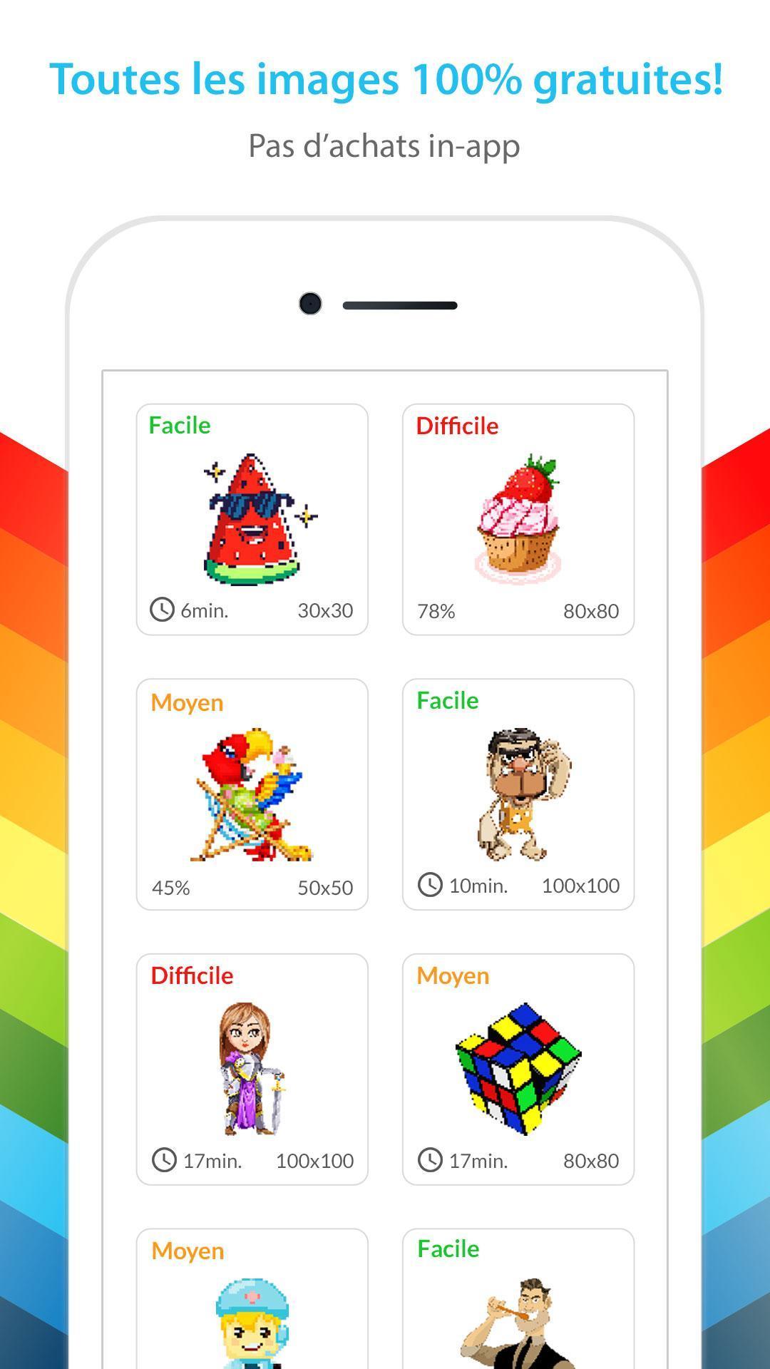 Jeux De Coloriage Numéro - Peinture Par Numero Pour Android concernant Jeu De Coloriage Pixel