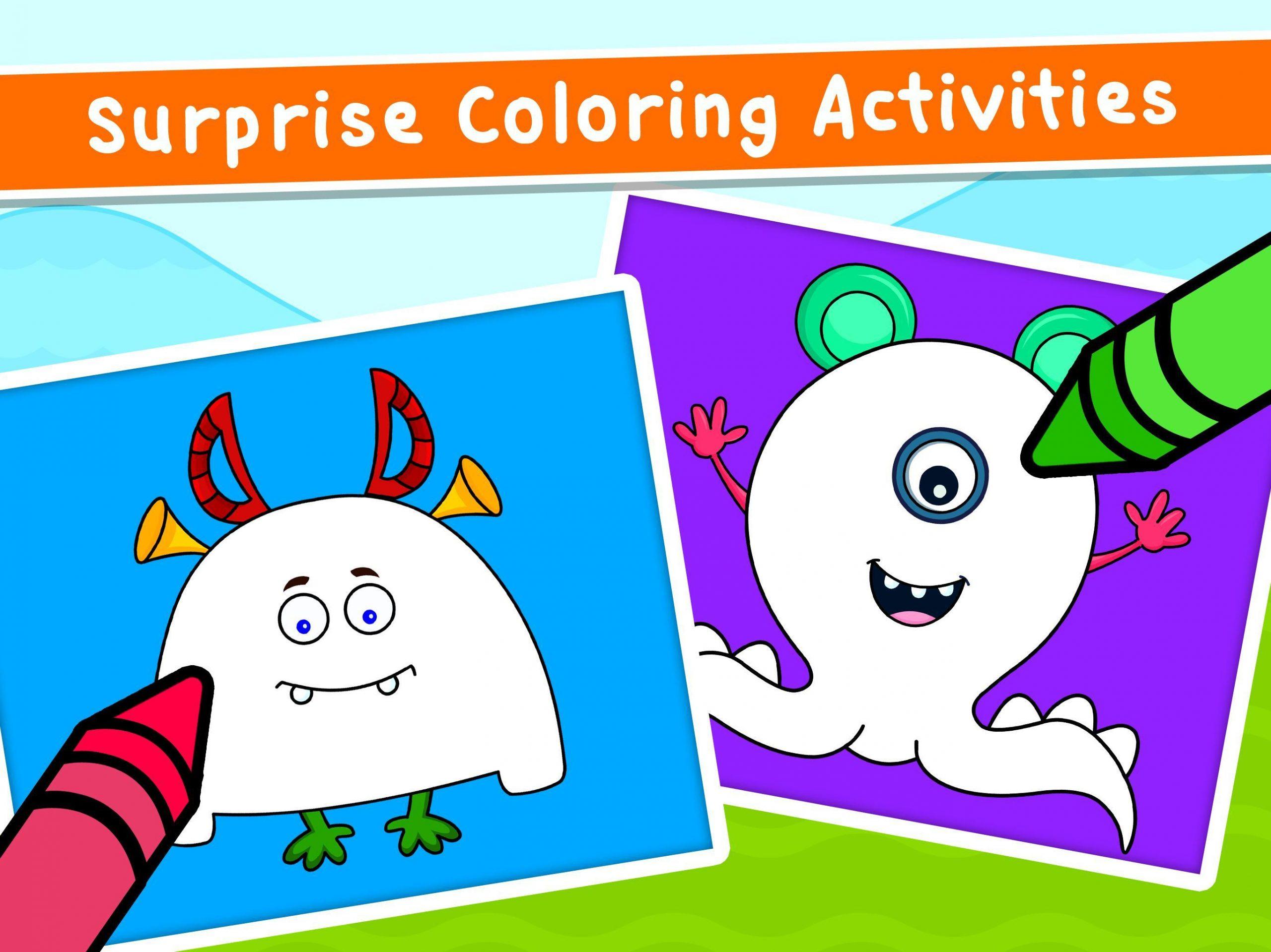 Jeux De Coloriage Pour Enfants - Dessin Livre Pour Android intérieur Jeux Enfant Dessin