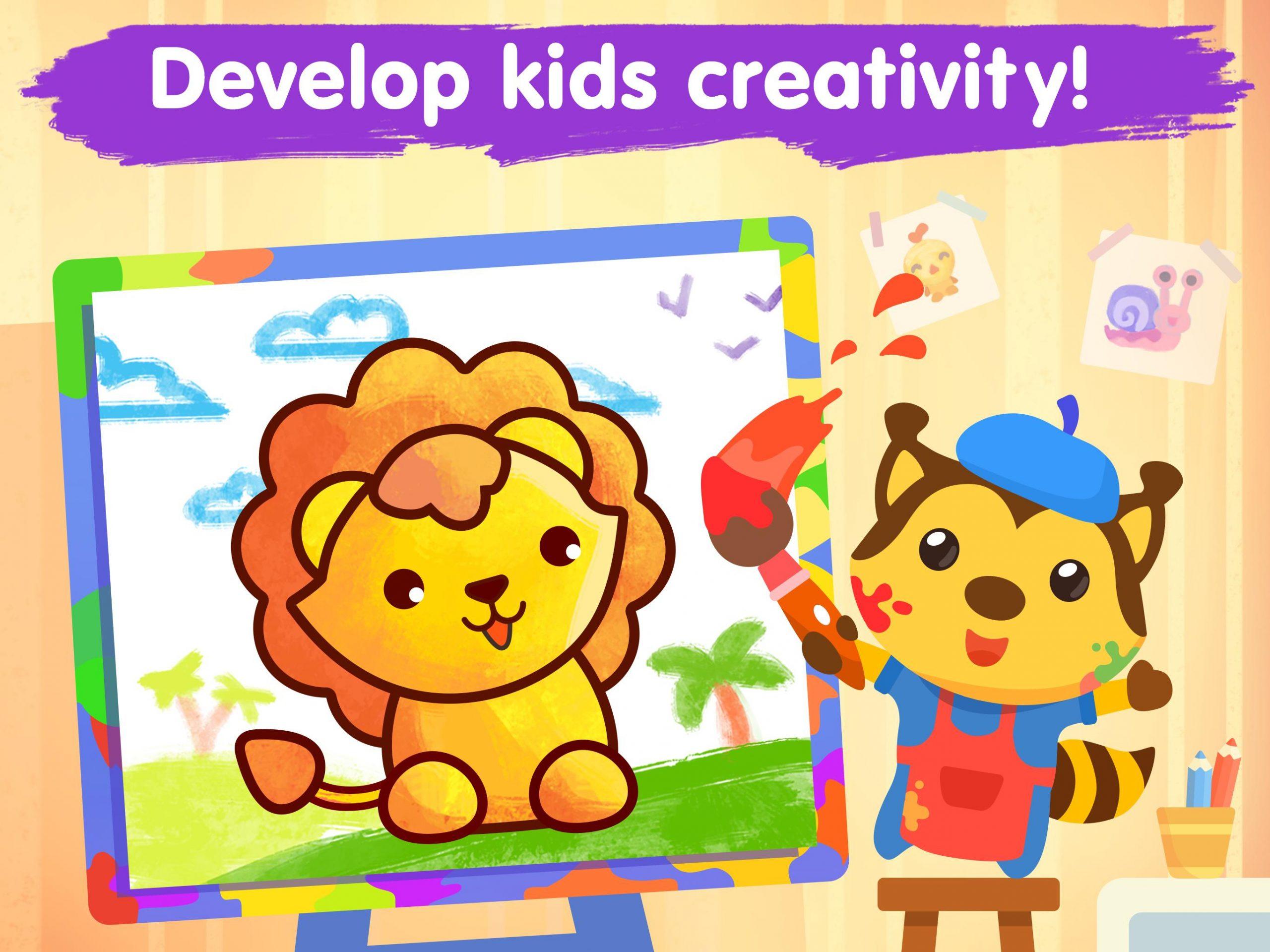Jeux De Coloriage Pour Les Enfants 2-5 Ans Pour Android pour Jeux Pour Enfant De 5 Ans