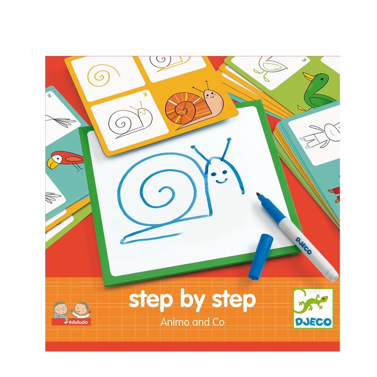 Jeux De Dessin Step By Step Les Animaux intérieur Apprendre Les Animaux Pour Bebe