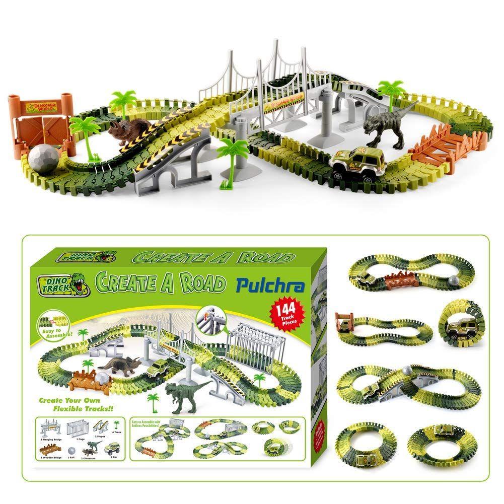 Jeux De Dinosaure Pulchra Set Set De Course De Voiture encequiconcerne Jeux De Course De Voiture Pour Enfan