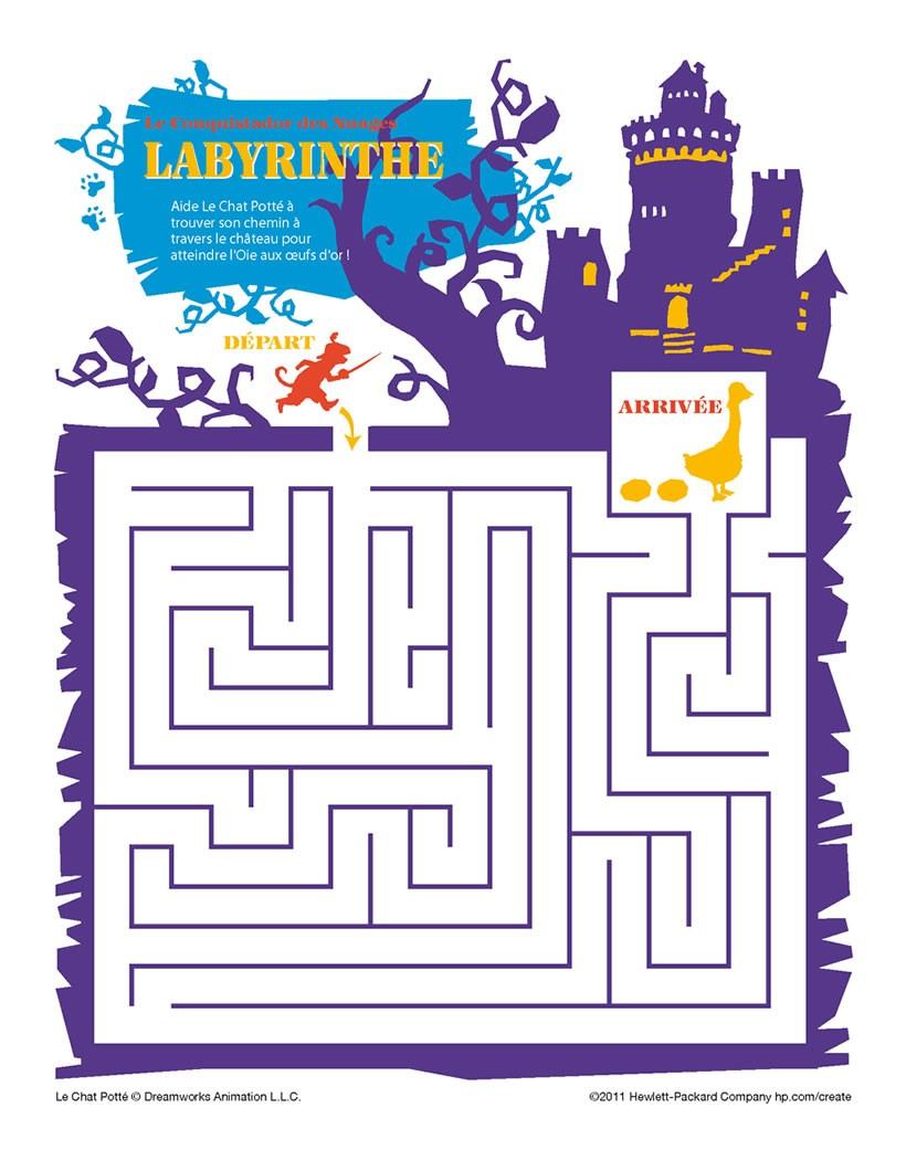Jeux De Labyrinthe Chat Potte - Fr.hellokids concernant Jeux De Labyrinthe Gratuit