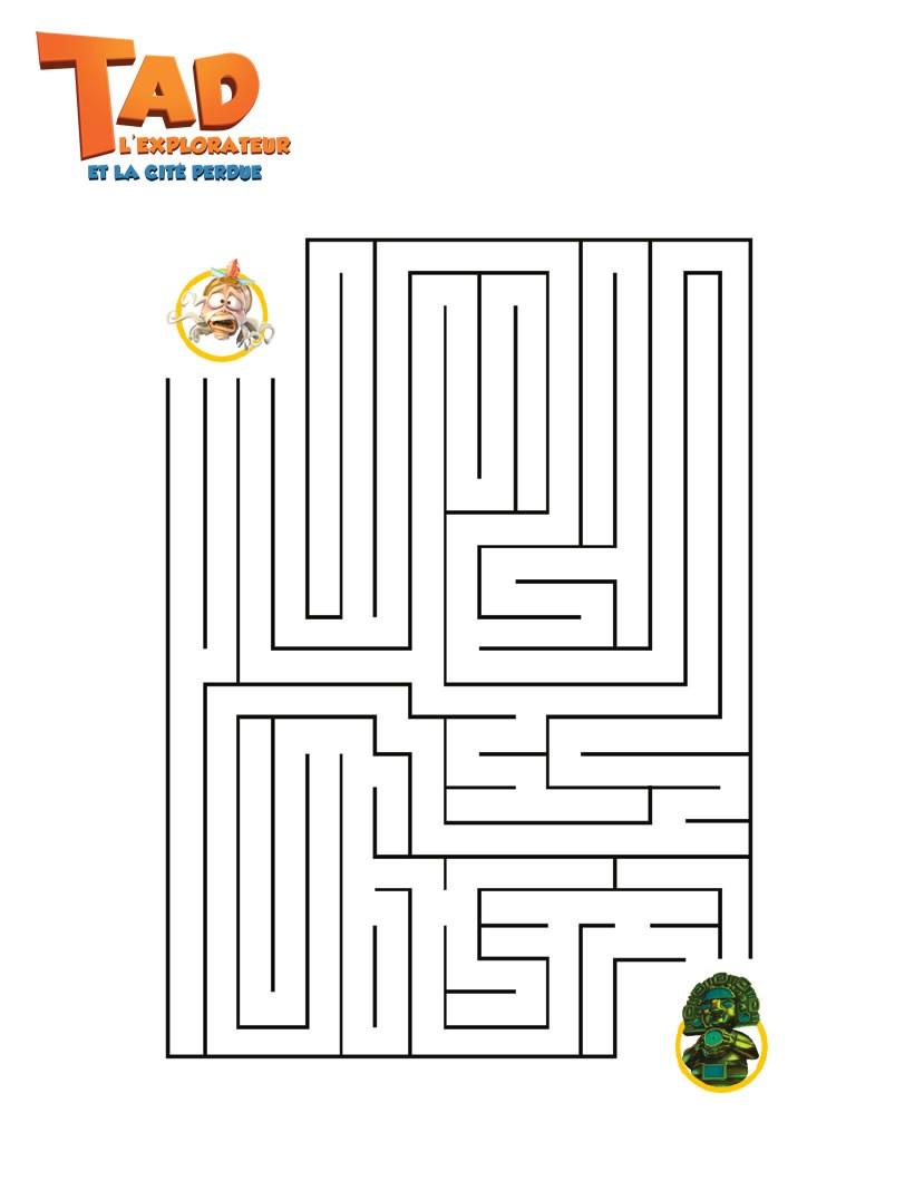 Jeux De Labyrinthe Tad L'explorateur - Fr.hellokids encequiconcerne Labyrinthes À Imprimer