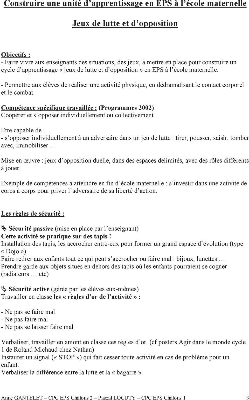 Jeux De Lutte Et D Opposition A L Ecole Maternelle - Pdf serapportantà Jeux D Apprentissage Maternelle