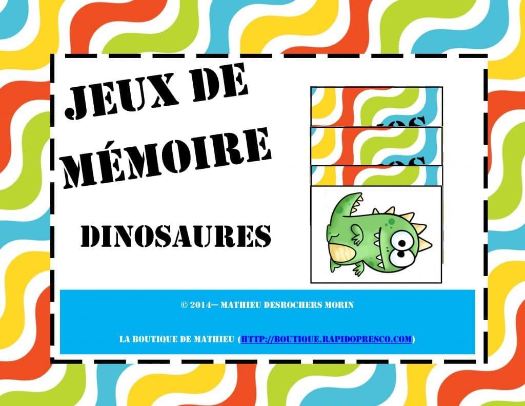 Jeux De Mémoire - Dinosaures (Memory) encequiconcerne Jeux De Mimoire