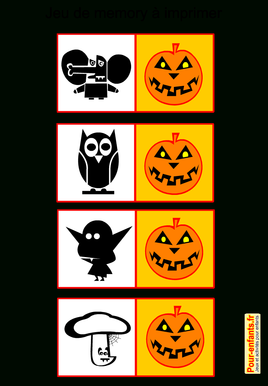 Jeux De Memory Halloween À Imprimer Gratuit Pour Enfants pour Jeux De Memory Gratuit
