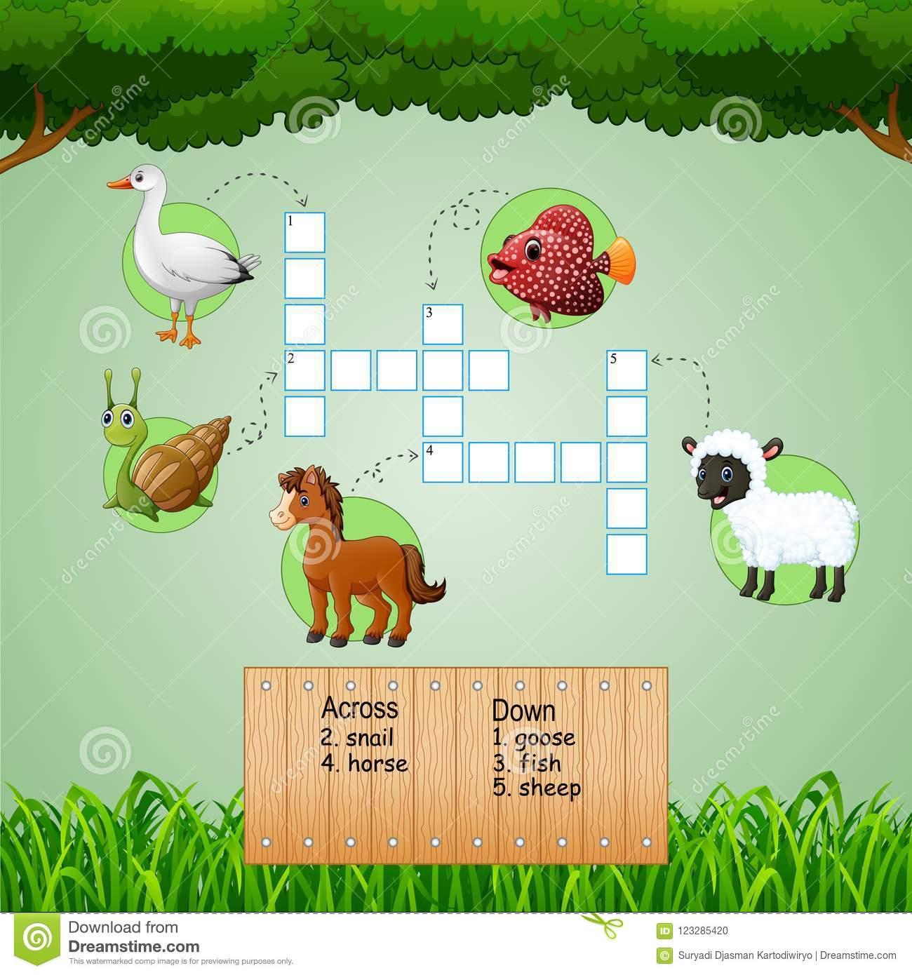 Jeux De Mots Croisé De La Ferme D'animaux Pour Des Jeux D dedans Jeux Les Animaux De La Ferme