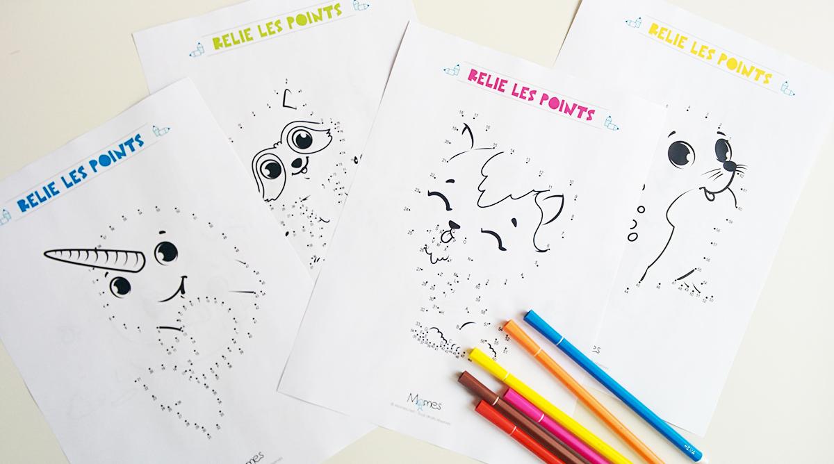 Jeux De Points À Relier À Imprimer - Jeux À Imprimer - Momes concernant Alphabet En Pointillé A Imprimer