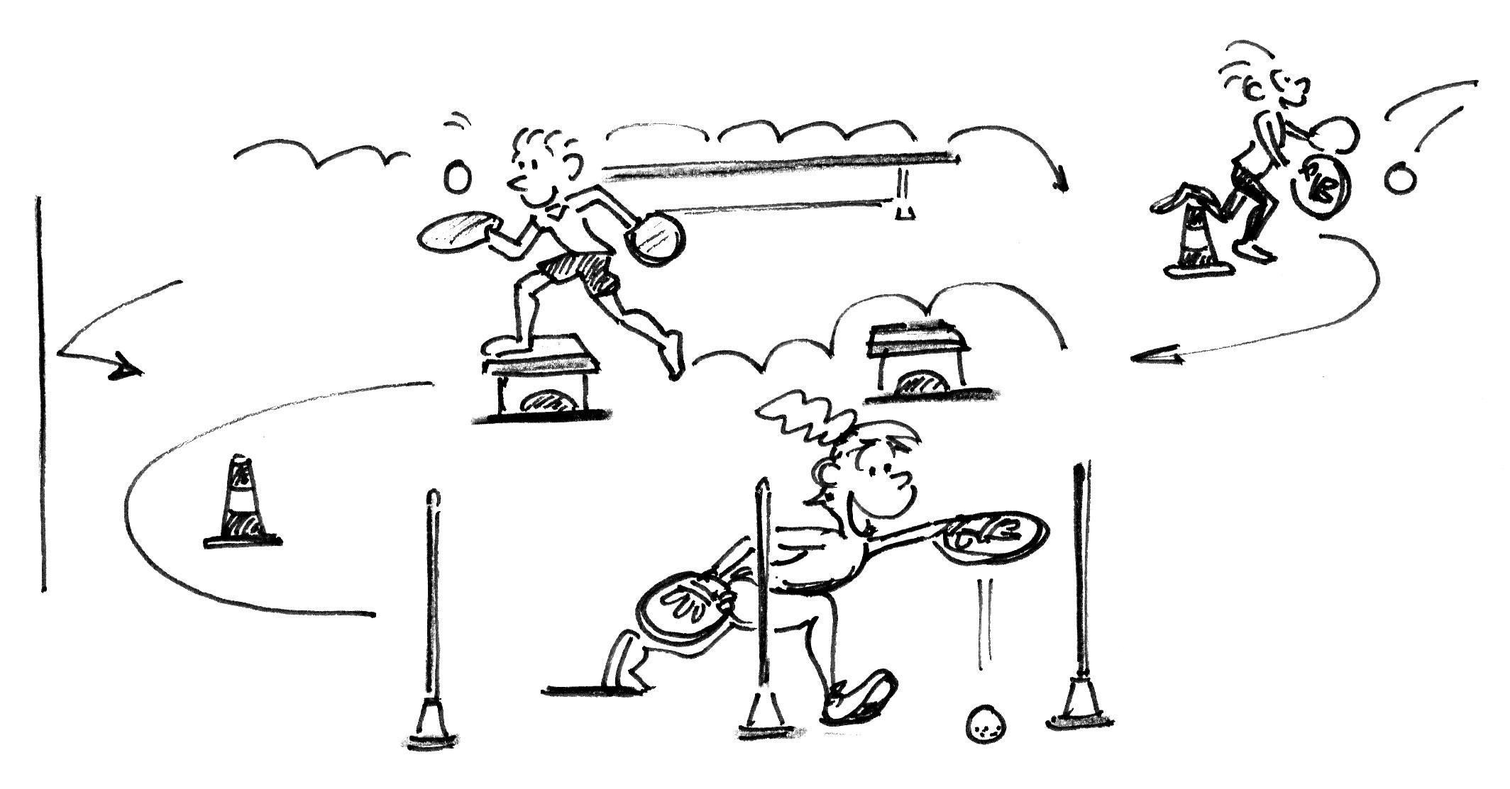 Jeux De Renvoi Avec Enfants – Jeux D'introduction: Parcours encequiconcerne Jeux Ludique Enfant