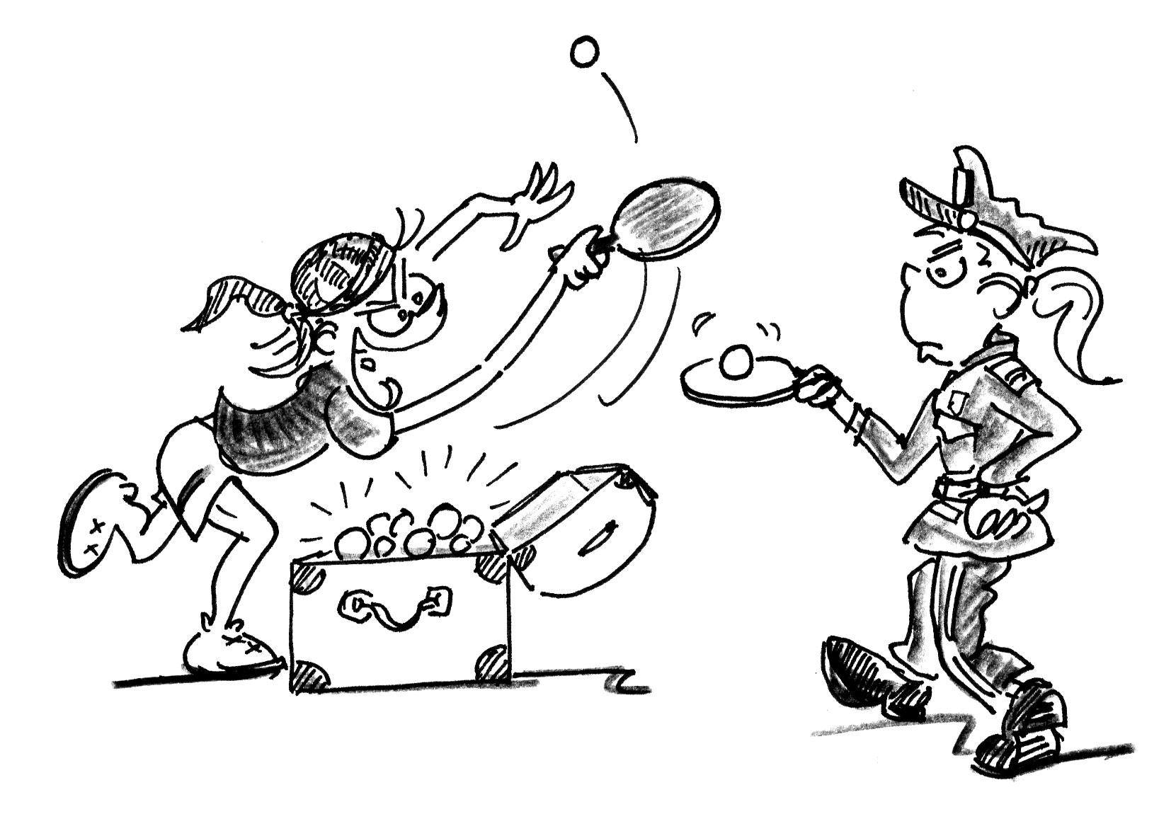 Jeux De Renvoi Avec Enfants – Tennis De Table: Police Et dedans Exercice Ludique