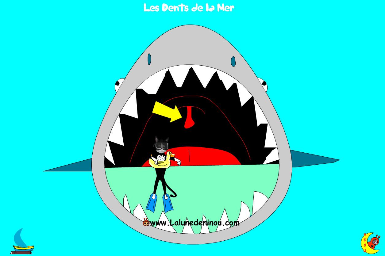 Jeux De Requins - Jeux Pour Enfants Sur Lalunedeninou - dedans Jeux Gratuit Requin Blanc